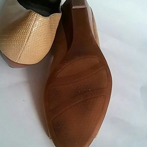 Alfani Shoes - Alfani Step N Flex Peep Toe Tan Pumps sz 10 M